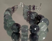 Fashion Jewelry  --  Chunky Fluorite Necklace -- By the Sea  N1260