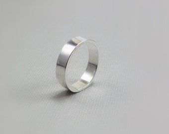 Silver Wedding Band - Sterling Jewelry - Simple Ring Band