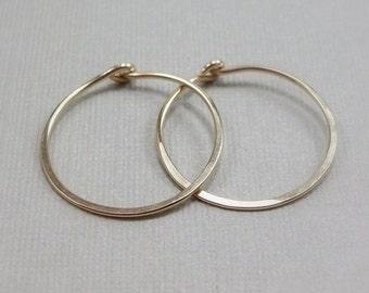 Simple Gold Hoop Earrings - Everyday Hoop Earrings - Hoop Earrings in Gold