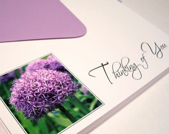 Thinking of You Note Cards - Purple Flower
