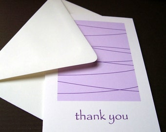 Thank You Cards - Modern Lines