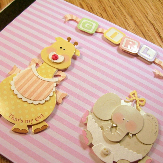 Pink Stripe Baby Girl Photo Brag Book