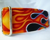 Warm Wags Hot Rod Flames Martingale Collar