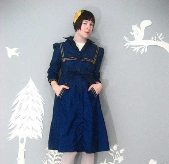vintage AMAZING Rothschild NAUTICAL sailor spring raincoat S