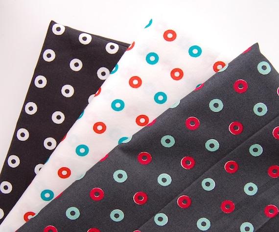 Kumiko Fujita Bundle of 3 Fat Eighth Donuts Dots