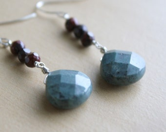 Earth - jasper stone earrings