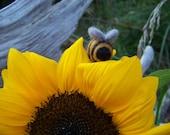 Needle Felted Bumble Bee or Ladybug Pin