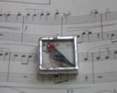 Birdie Queen Soldered Art Penant