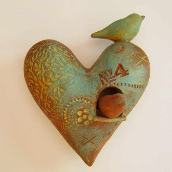 Wall Heart  with Birds