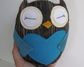 Tiny Wee Hoot Owl - Seaside Lovers - Eco Friendly Kids Plush Doll with Secret Pocket
