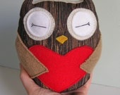 Tiny Wee Hoot Owl - Redwood Lovers - Eco Friendly Kids Plush Doll with Secret Pocket