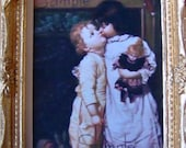 Miniature Dollhouse Print  Good Night Kiss