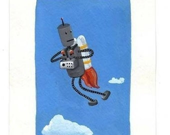 Jet Pack Robot