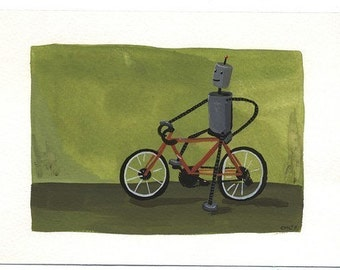 Robot and Bicycle