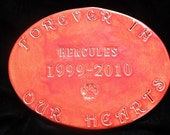Personalized Pet/Baby/Child/Mother/Father Memorial Garden Stoneware Stepping Stone