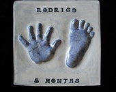 3 Gift Plaques Baby Handprint and Footprint with Mold Kit and Shipping