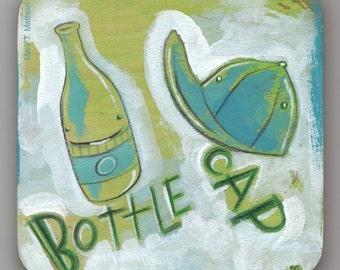 Bottle Cap Two-Tone Original Painting