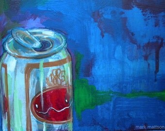 Beer, Celery and Pills Original Painting