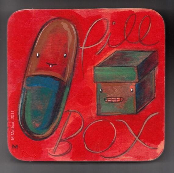 Pill/Box Two-Tone Original Painting