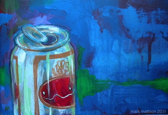 Beer, Celery and Pills Original Painting