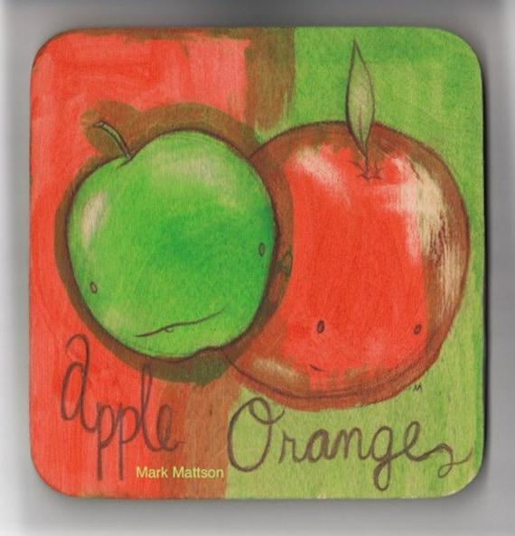 Mattson Two-Tone Apple/Orange Painting
