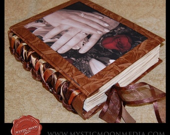 Rustic Wedding Guest Book - XL Handmade Wedding Photo Guest Book - Handfasting Book - CHOOSE your own colors...Add your own photo