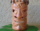 Starfish TIKI MAN Tea Light Candle Holder, Ceramic Candleholder