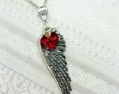 Silver Necklace - Silver Love Angel -Jewelry by BirdzNbeez