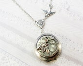 Birds and Bees on Time Locket