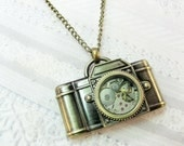 The ORIGINAL Camera Necklace - Steampunk Camera - Jewelry by BirdzNbeez - Graduation Photographer Wedding Birthday Bridesmaids Gift