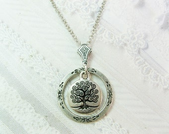 Silver Tree Necklace - Silver Tree of Life - Jewelry by BirdzNbeez