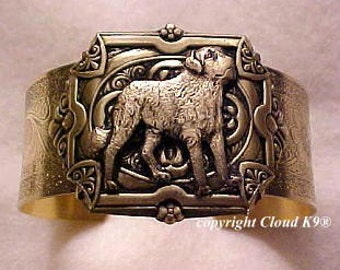 Saint Bernard Dog Cuff Bracelet. St Bernard Jewelry. Saint Bernard Gifts for Dog Lovers