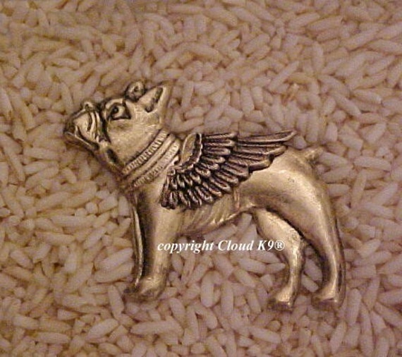 Boston Terrier French Bulldog Guardian Angel Dog Pin By