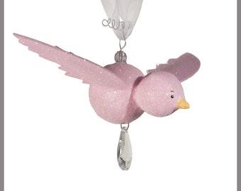 Princess Pink Hanging Bird- Baby Mobile- Nursery Mobile-Light Pink