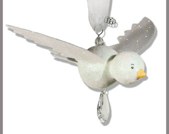 White Hanging Bird- Baby Mobile- Nursery Decor