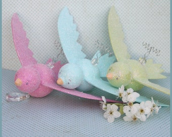 Three Hanging Birds-Baby Mobile- Nursery Decor