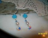Dainty Angel Blue earrings.....SALE
