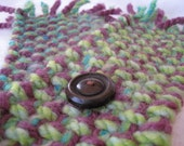 Green Apple and Plum Scarflette