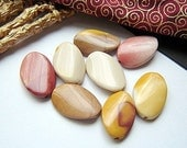 Curved Oval Moukaite Beads