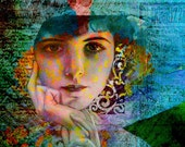 Greeting Card Frameable Digital Art Print - Wistful