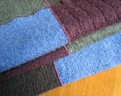 Lovely merino wool throw, blues, greens, blanket, quilt, sweater