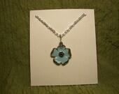 Botanical Blue Flower Necklace
