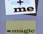 YOU  ME  MAGIC card