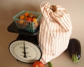 Cotton Produce bag with stripes- one large bag