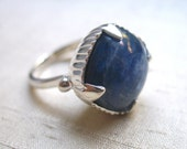 The Amphora Ring- Kyanite and Sterling Silver
