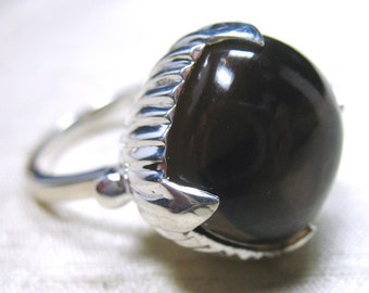 The Amphora Ring- Smoky Quartz and Sterling