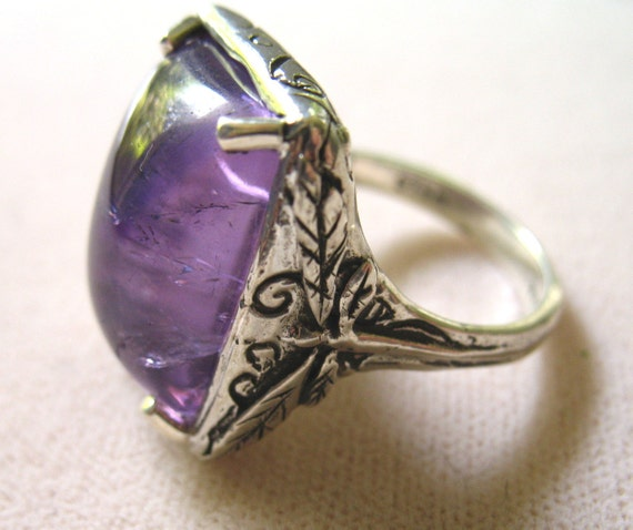 Dragonfly Ring- Amethyst and Sterling