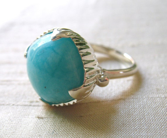 SALE- The Amphora Ring- Amazonite and Sterling Silver