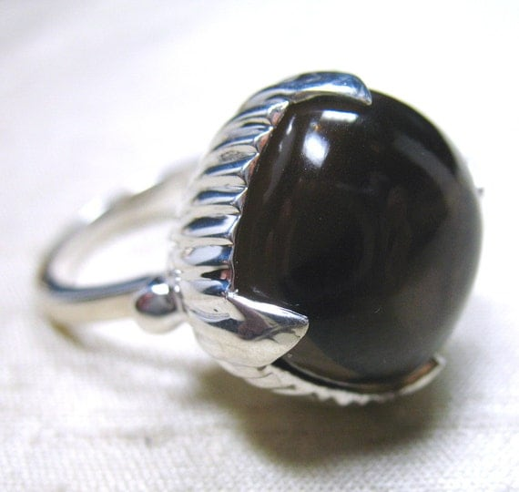 SALE The Amphora Ring- Smoky Quartz and Sterling