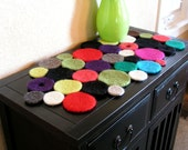 Felted wool table runner - Colorful, Modern and Upscale - Great gift